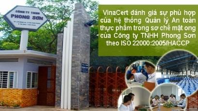 VinaCert audited ISO 220000:2005/HACCP for Phong Son Co., Ltd