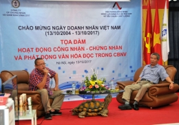VinaCert collaborated with AOSC to organize a meeting on Vietnam Entrepreneur's Day (14/10/2017)