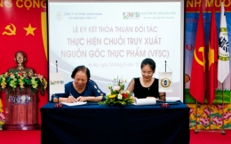 Signing ceremony of partnership agreement to implement food traceability chain